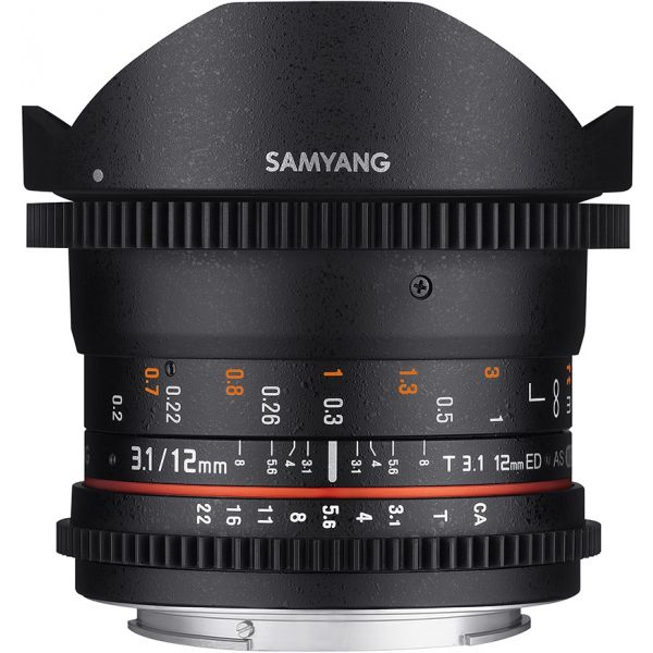 SAMYANG 12mm T3.1 VDSLR ED AS NCS Fisheye Sony E