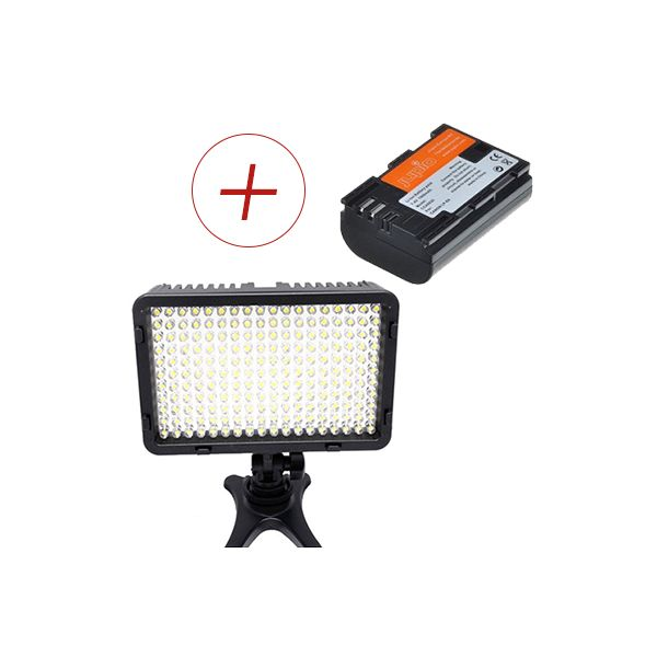 Mcoplus Led168 Video Light + LP-E6