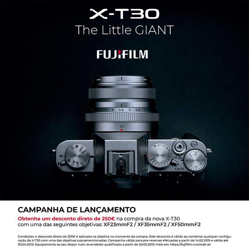 Fujifilm X-T30 Desconto directo com Objectiva