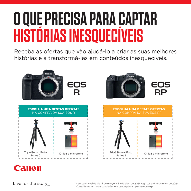 CANON EOS R e RP Campanha ADD VALUE